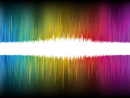 Equalizer Abstract Sound Waves. Illustration