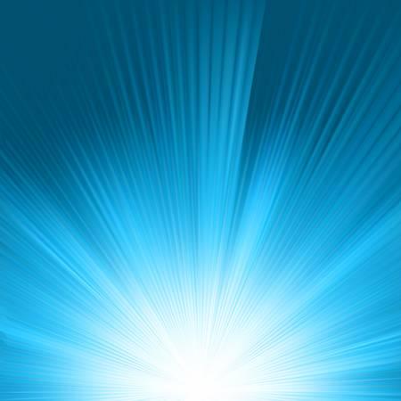 Flare in blue sky. Vector