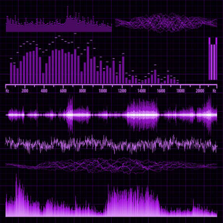 Sound waves set. Music background. EPS 8 vector file included Stock Vector - 9910148