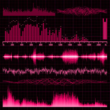 Sound waves set. Music background. EPS 8 vector file included Illustration