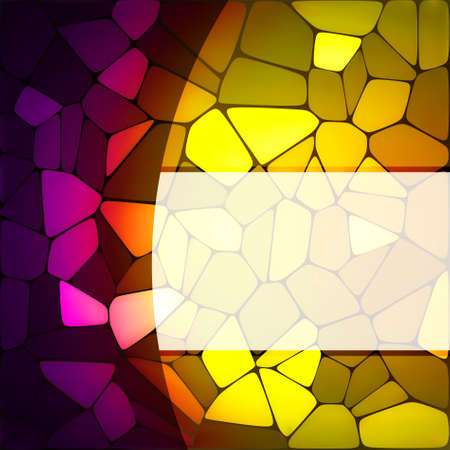 stained glass: Stained glass design template. EPS 8 vector file included Illustration