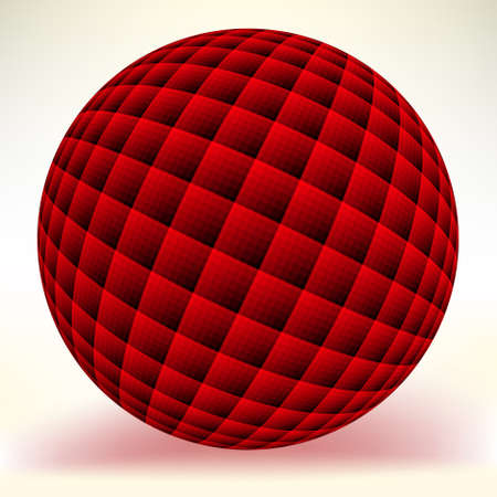 Red glossy sphere isolated on white. EPS 8 vector file included Vector