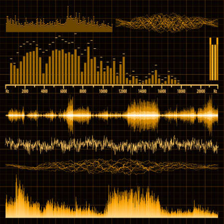 Sound waves set. Music background. EPS 8 vector file included Vector