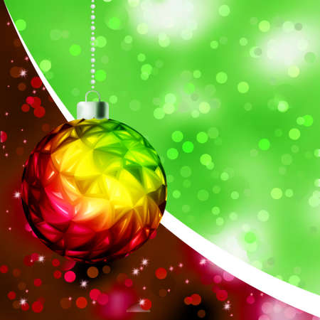 Colorful Christmas Ball card template. EPS 8 vector file included Stock Vector - 9910170