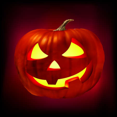 Scary Jack O Lantern. EPS 8 vector file included photo