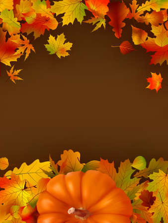 eps 8: Abstract autumn bright background with leaves. EPS 8 vector file included