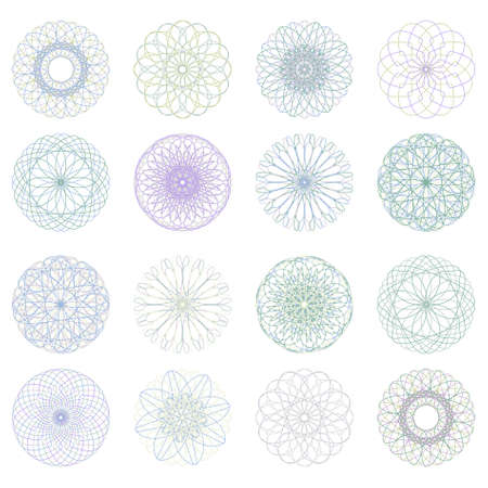 Guilloche rosette, vector pattern for currency, certificate or diplomas. EPS 8 vector file included Vector