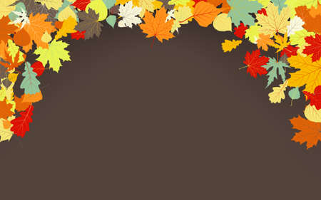 Brown autumnal background. EPS 8 vector file included Stock Vector - 9910193
