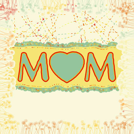Happy Mother's Day. EPS 8 vector file included Stock Vector - 9910226