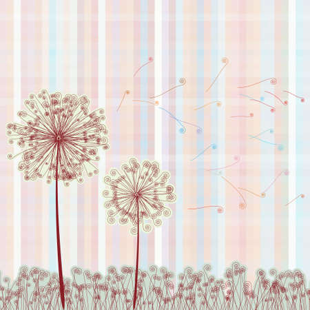 Abstract colorful dandelion. EPS 8 vector file included Vector