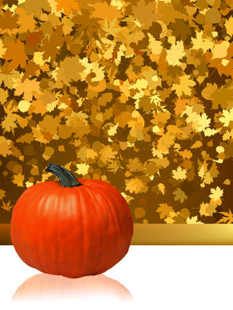 Composition for Thanksgiving invitation border or background with copy space. EPS 8 vector file included Vector