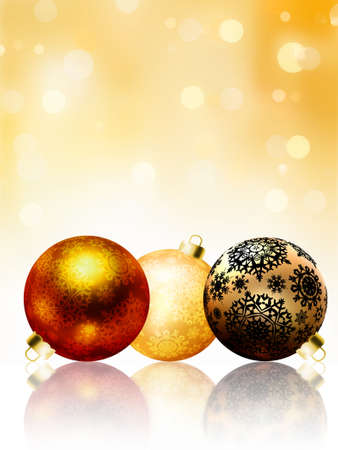 Beautiful gold happy Christmas card,winter holiday background. EPS 8 vector file included Stock Photo - 9910263