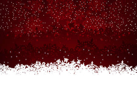 claret: Winter background with many different falling stylish snowflakes. EPS 8 vector file included Illustration