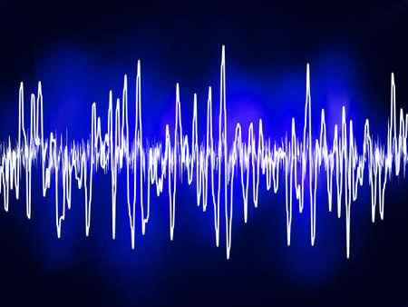 Onde sonore o audio sine elettronico. File vettoriali EPS 8 incluso