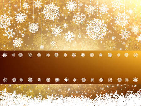 shimmer: Elegant christmas background.  Illustration