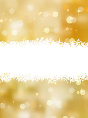 Gold christmas background with copy space.  Vector