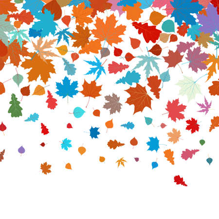 saturate: Autumn leafs abstract background with place for your text.
