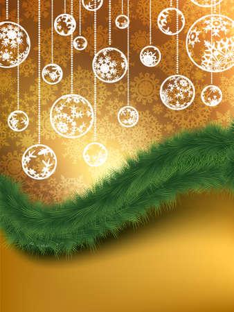 Merry Christmas Elegant Background.  Vector