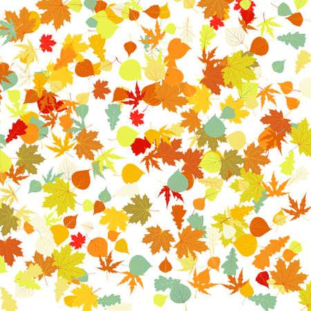 jachere: Motif avec des feuilles d'automne. Illustration