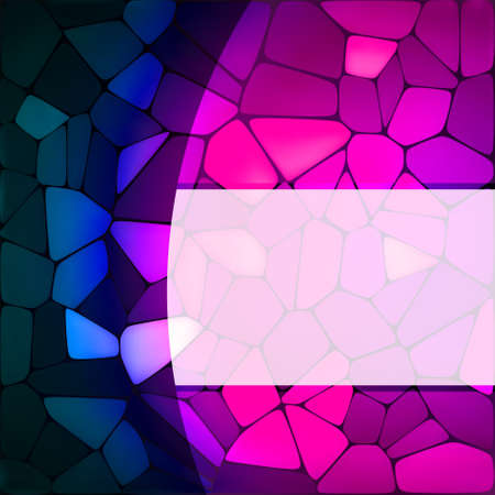 Stained glass design template. Illustration