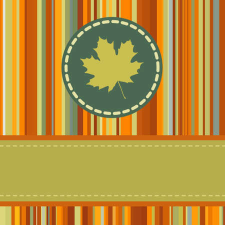 Cute autumn frame.  Vector