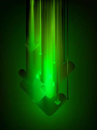 designator: Green download web background.  Illustration