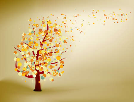 Abstract natural autumn background. EPS 8 vector file included Vector