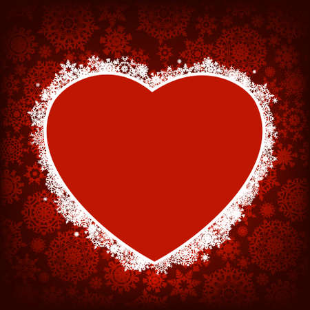 Christmas card - frame in the shape of heart. EPS 8 vector file included  Vector
