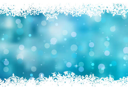 snow texture: Blue background with snowflakes. Illustration
