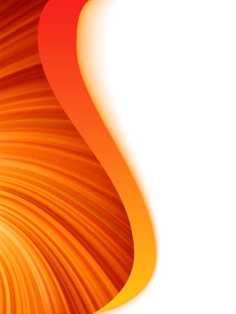 wave hello: Orange red and white abstract wave burst.