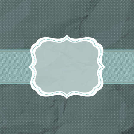 Vintage styled card with polka dot ornament background. EPS 8 vector file included photo
