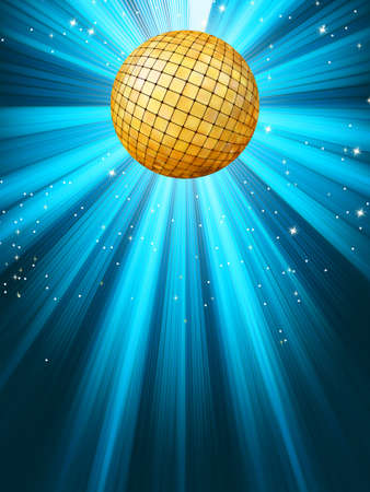 Abstract disco party lights and gplden disco ball background. EPS 8 vector file included Stock Vector - 10352191