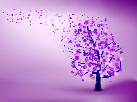 Abstracte paarse achtergrond. EPS 8 vector bestand opgenomen Vector Illustratie