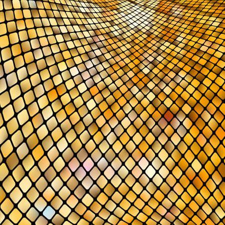 profundidad: Mosaico de oro negocios. Archivo de vectoriales EPS 8 incluido Vectores