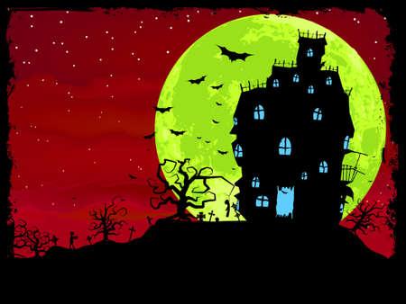 halloween poster: Halloween poster con sfondo zombie. EPS 8 file vettoriale incluso