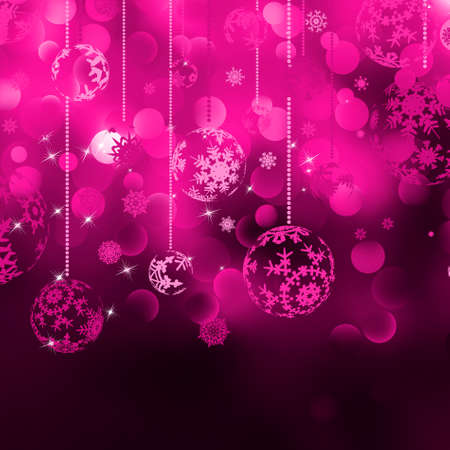 Christmas bokeh background with baubles. EPS 8 vector file included Stock Vector - 10398192