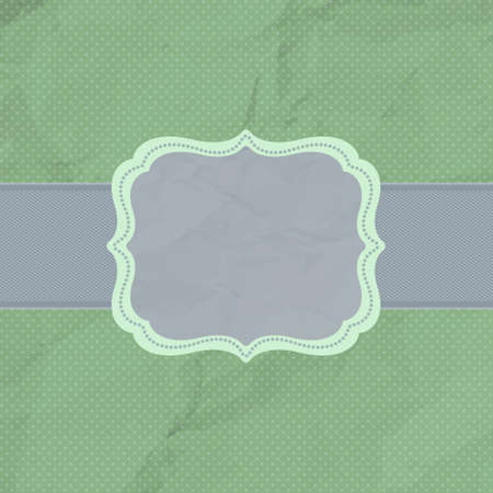 Vintage styled card with polka dot ornament background. EPS 8 vector file included Vector