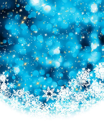 Blue abstract christmas background with snowflake. EPS 8 vector file included Vector