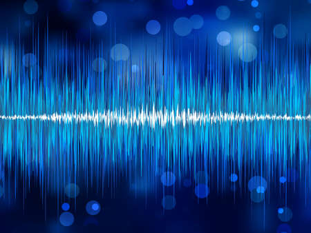 Abstract bokeh waveform. EPS 8 vector file included