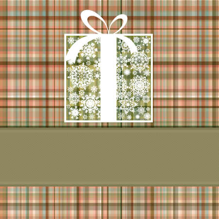Christmas box card. EPS 8 vector file included Vector