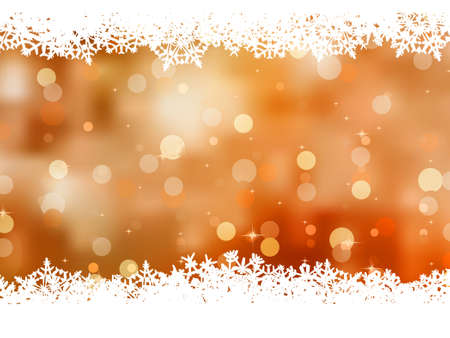 Orange background with snowflakes. EPS 8 vector file included Stock Vector - 10474018