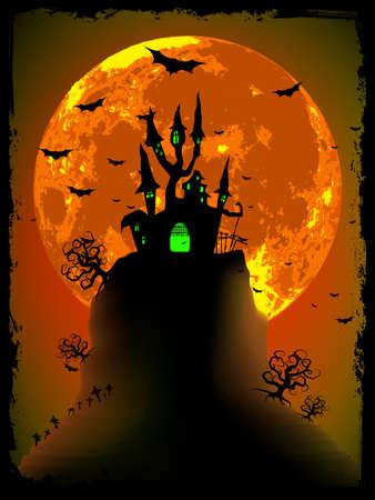 obscure: Vector de halloween de miedo con Abad�a m�gico. Archivo de vectoriales EPS 8 incluido Vectores