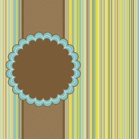 Diseño de la plantilla de tarjeta de felicitación retro. Archivo de vectoriales EPS 8 incluido Ilustración de vector