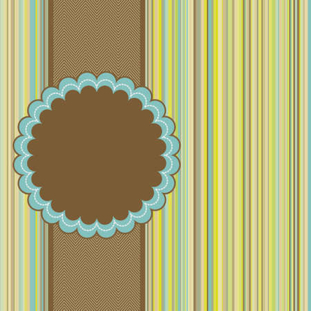 Retro greeting card template design. EPS 8 vector file included Vector