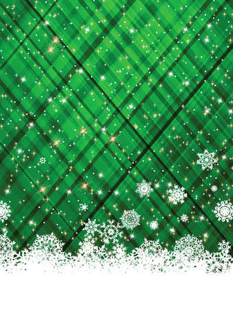 Green christmas background, vector illustration. EPS 8 vector file included Stock Vector - 10474063