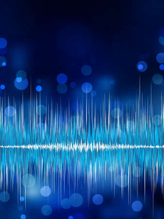 Abstract bokeh waveform vector background. EPS 8 vector file included