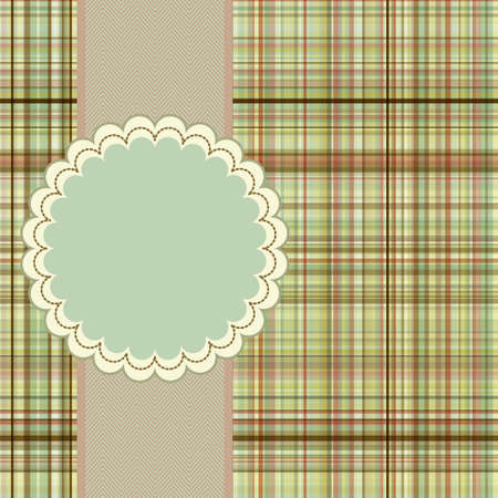 Wallace tartan vintage card background. EPS 8 vector file included Vector