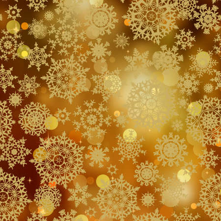 charms: Light gold snowflakes and glitter sparkles background.
