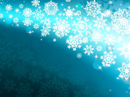 Winter background with lights and snowflakes Vector