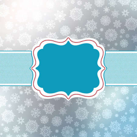 Retro Christmas Card Template. Vector